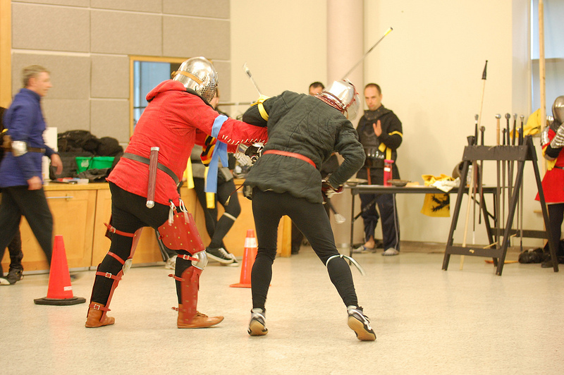 Dr. Bill Erneohazy an Sean Hayes tangle at the half-sword.