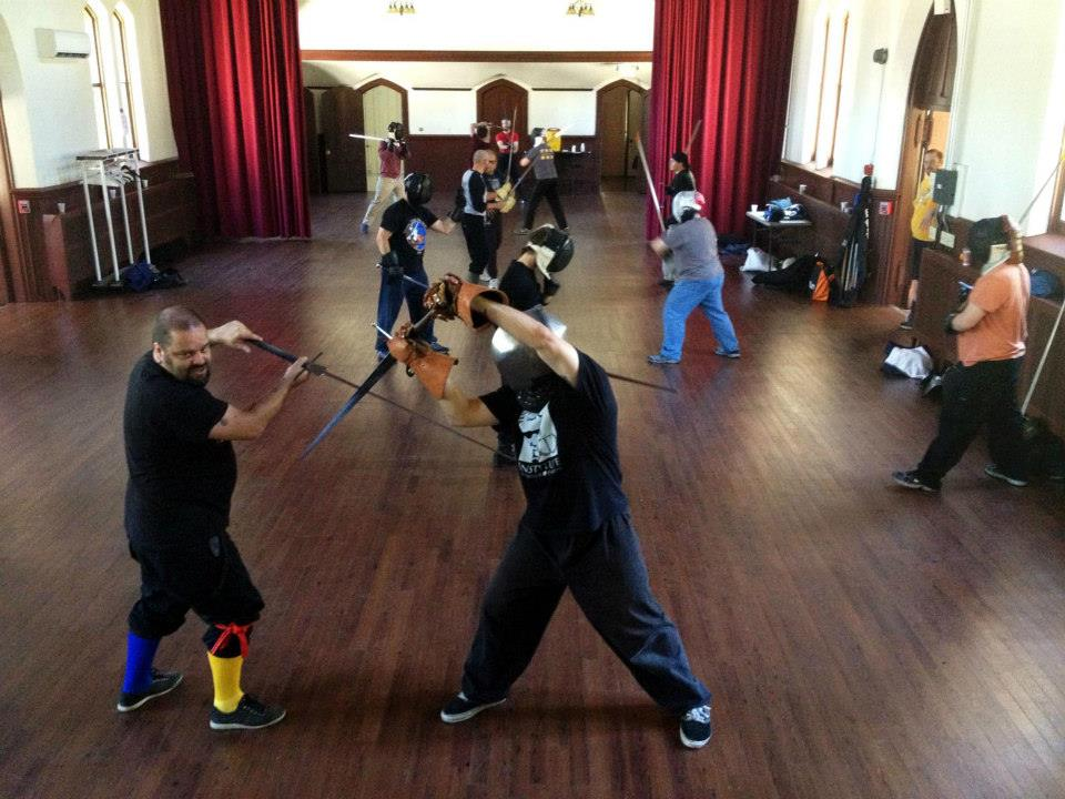 Roger Norling teaching Meyer's longsword. (c) Ed Toton