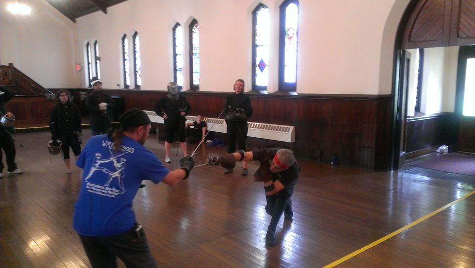 CSG's John O'Meara teaching Italian rapier in the style of Salvatore Fabris
