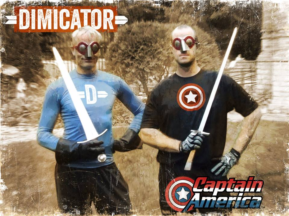 Here is a rare collector's post card from the early days of HEMA superhero geekdom, showing the Dimicator and Captain America. At the time, critics were still undecided if the Dimicator was to become a superhero or supervillain.