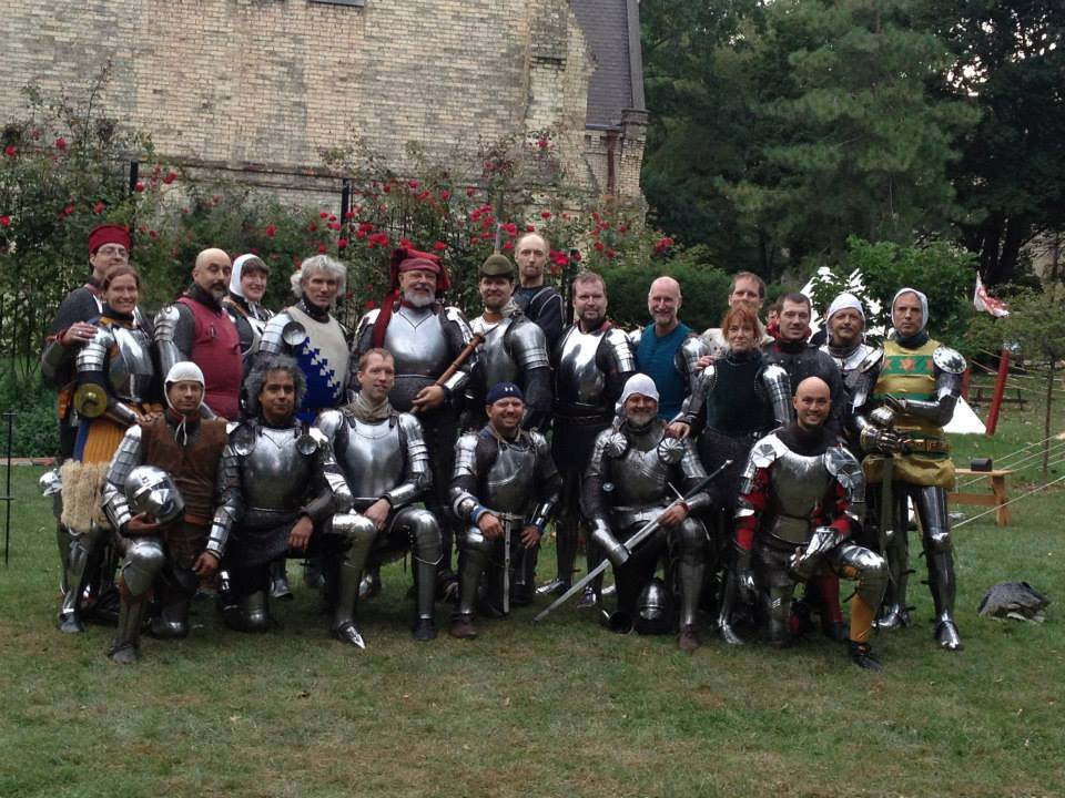 Our numbers grow...the 2013 combatants in the Armoured Deed of Arms
